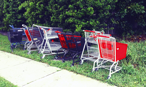 trolley-shopping-cart-park-art-satire-comedy-humor