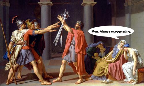 Jacques-Louis-David-Horatii-art-satire-comedy-humor